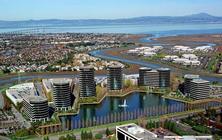 A view of the peninsula in the Bay Area, California.