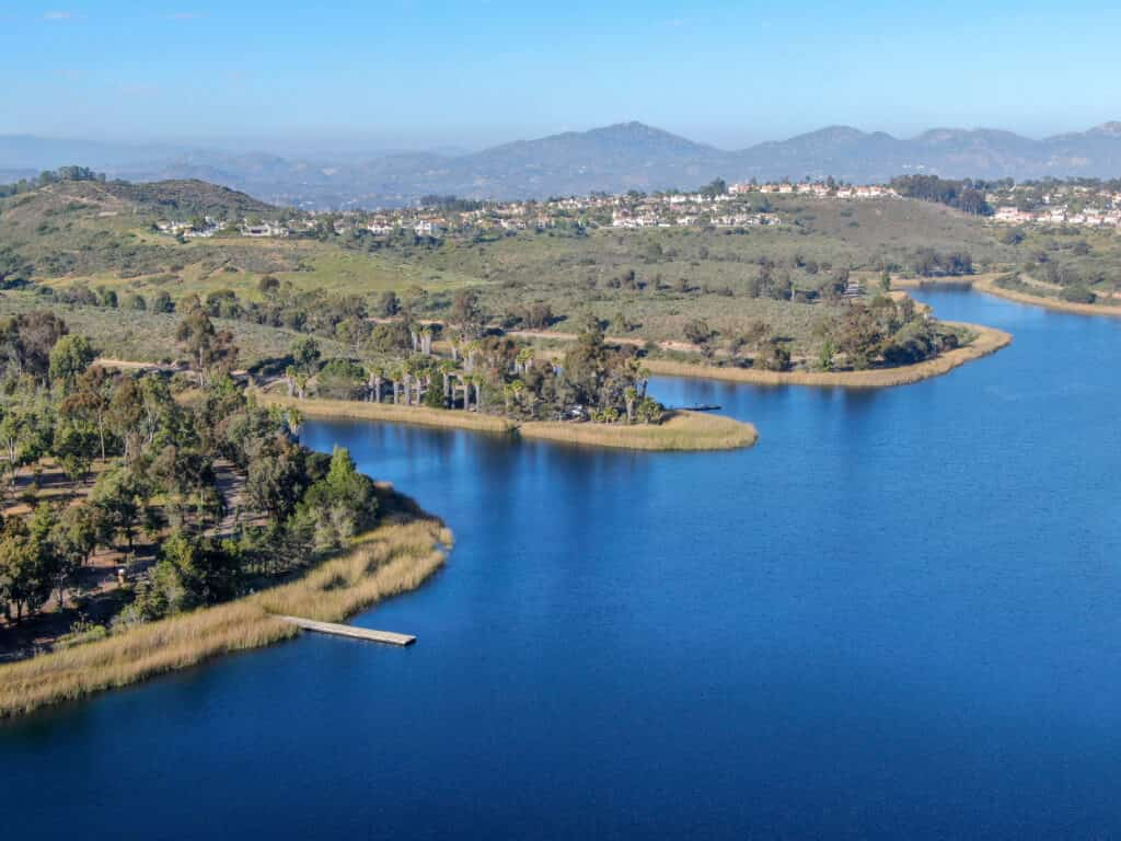 A view of a lake in San Diego, California.